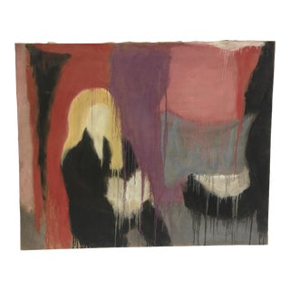 Late 20th Century Minimalist Abstract Figurative Oil Painting For Sale