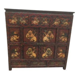 1900s Asian Wooden Chest of Drawers For Sale