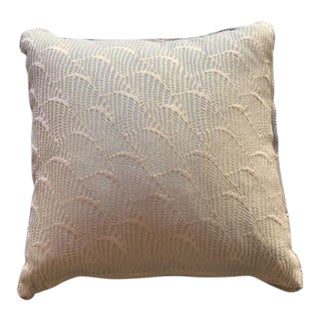 Traditional Sea Foam Green Decorative Pillow With Beads For Sale