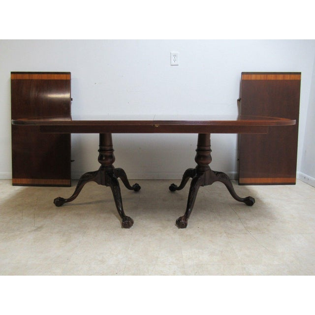 18th Century Ethan Allen Mahogany Conference Dining Table For Sale - Image 11 of 11