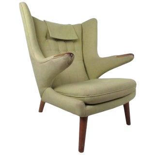 Vintage Modern Papa Bear Chair by Hans J Wegner For Sale