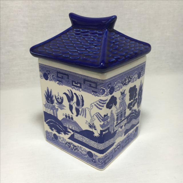 Blue Willow Ceramic Canisters - A Pair - Image 6 of 8
