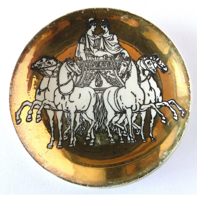 Italian Fornasetti Roman Chariot Coasters - Set of 4 For Sale - Image 3 of 6