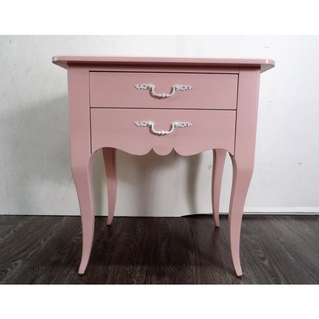 Mid 20th Century 20th Century Light Pink Small Side Table For Sale - Image 5 of 5