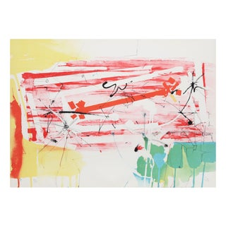 """Dimitri Petrov """"Abstract With Sun"""" Lithograph For Sale"""