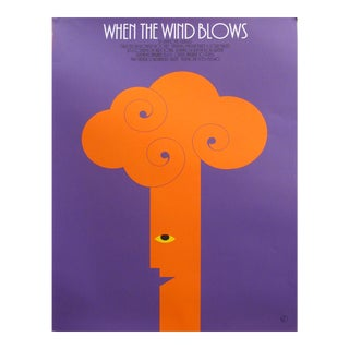 1985 Original Canadian Theatre Poster - When the Wind Blows (Twp Theatre) For Sale