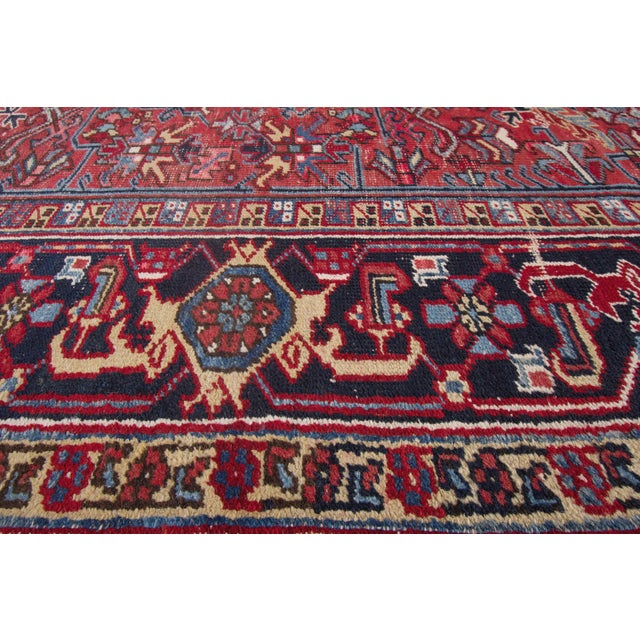 "Vintage Red Apadana Persian Rug - 8'2"" X 12' - Image 8 of 10"