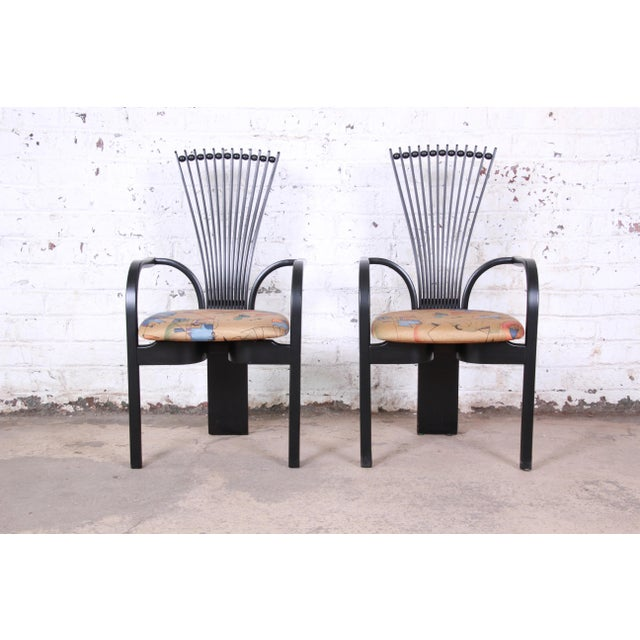 "Torstein Nilsen for Westnofa Scandinavian Modern ""Totem"" Armchairs - a Pair For Sale - Image 12 of 12"