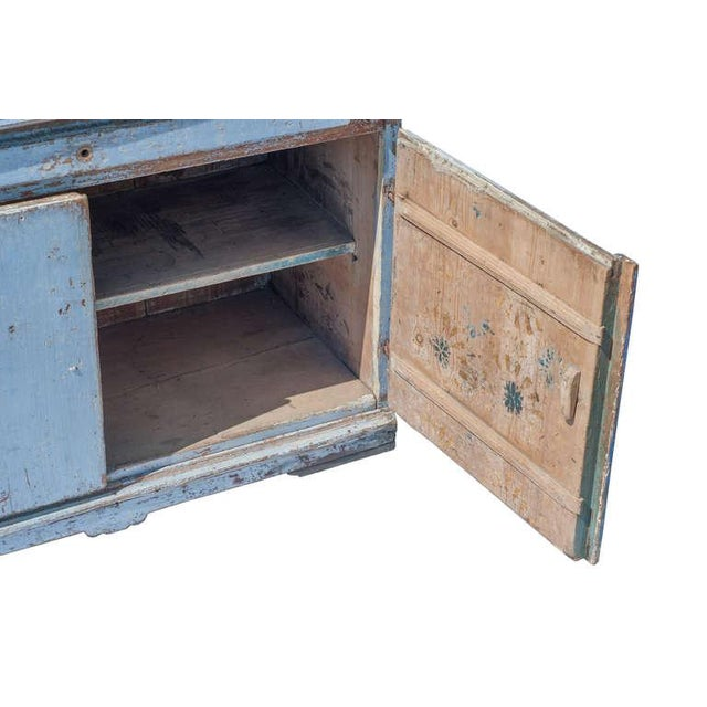 Blue Blue Painted Swedish Secretaire For Sale - Image 8 of 9
