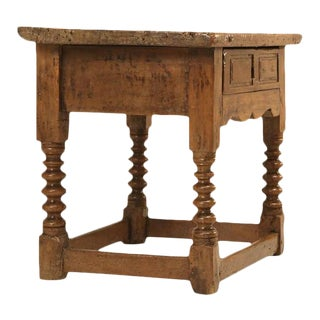 Antique Spanish Walnut End Table For Sale
