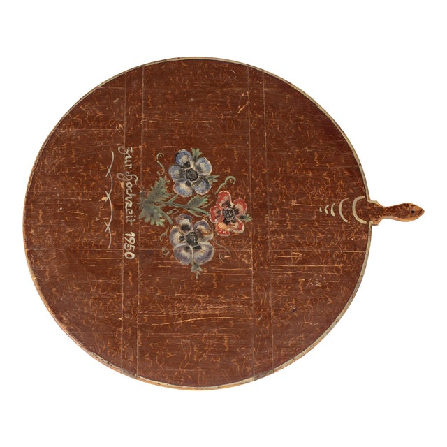 1950 Hand-Painted Bread Board For Sale