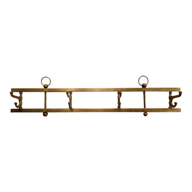 Vintage French Country Foldable Hat Rack For Sale