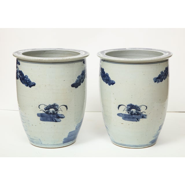 Chinese Blue and White Planters - A Pair For Sale - Image 12 of 13