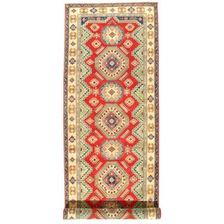 "Traditional Pasargad N Y Kazak Design Lamb's Wool Rug - 16'5"" X 5'1"""