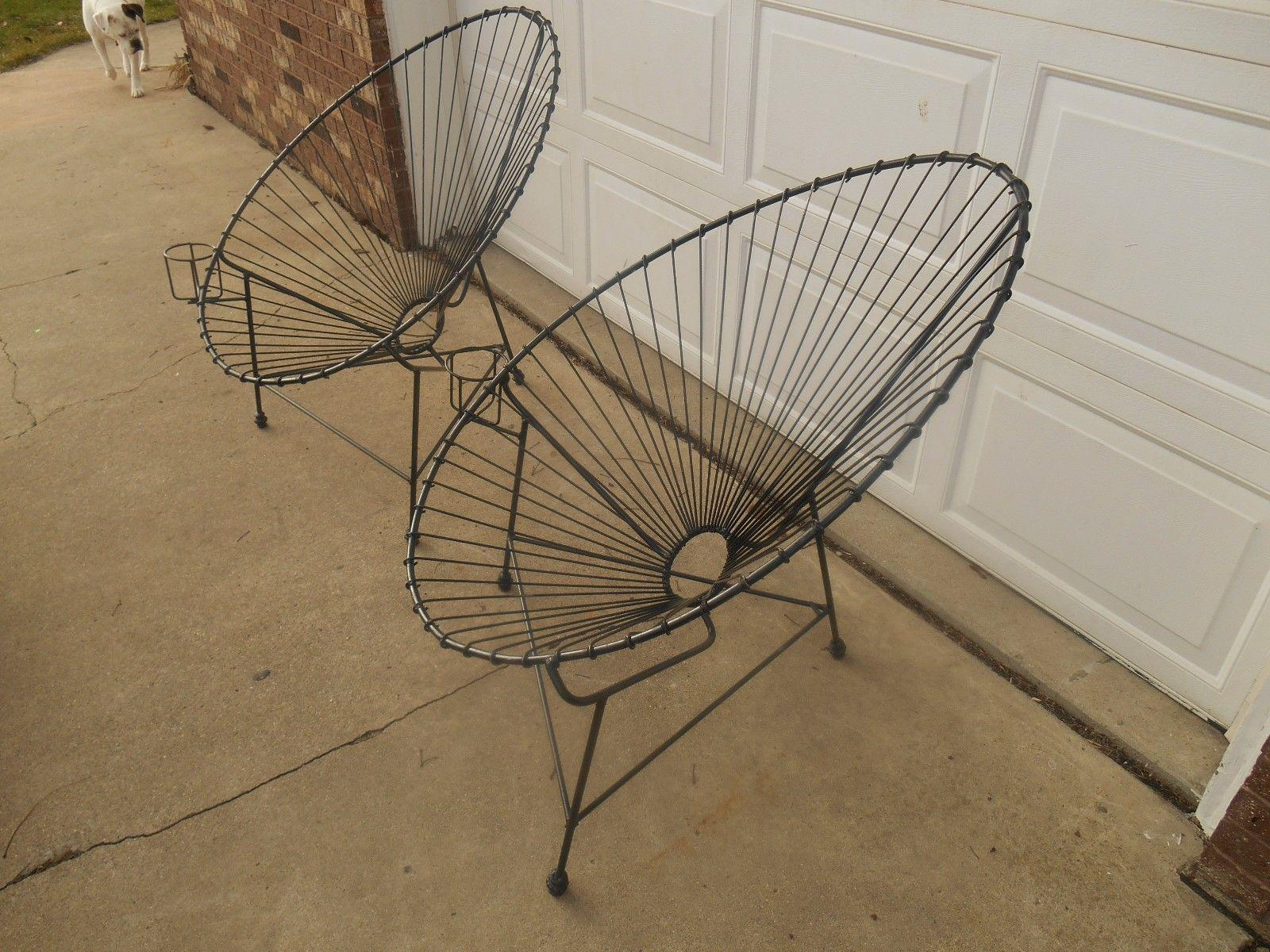 Mid Century Modern Egg / Womb Metal Chairs   A Pair   Image 9 Of