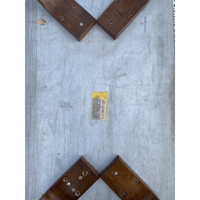 Wood Thonet Mid Century Walnut End Tables - a Pair For Sale - Image 7 of 11
