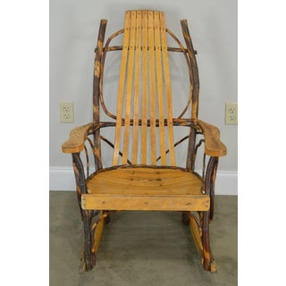 Hickory & Bent Twig Wood Vintage Rocker Rocking Chair Preview