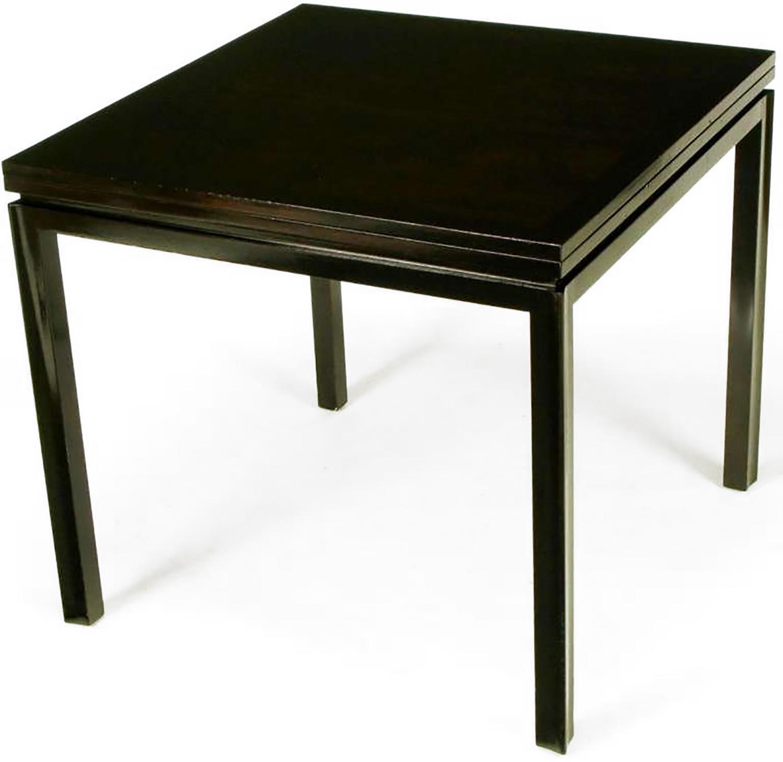 Edward Wormley For Dunbar #2299 Ebonized Walnut Flip Top Game Table, With  Ebonized Mahogany