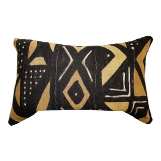 Down Filled African Mudcloth Lumbar Pillow