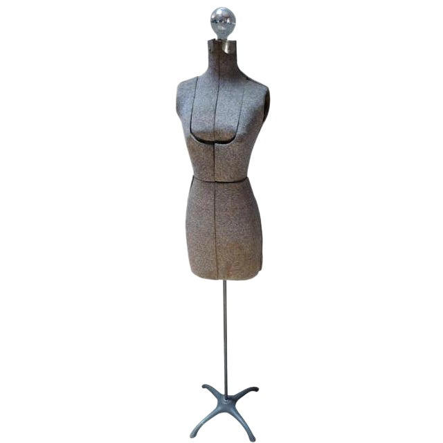 Vintage Gray Dress Form Floor Lamp - Image 1 of 4