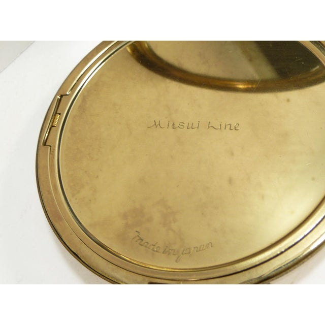 Mid-Century Asian Hollywood Glam Mirrored Compact - Image 6 of 7