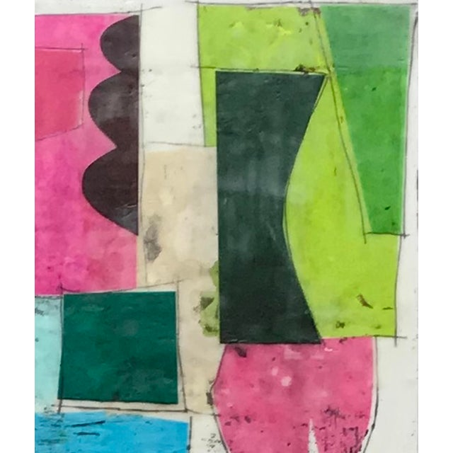 """Abstract """"Castling No. 1"""" - Encaustic Collage Painting by Gina Cochran For Sale - Image 3 of 6"""