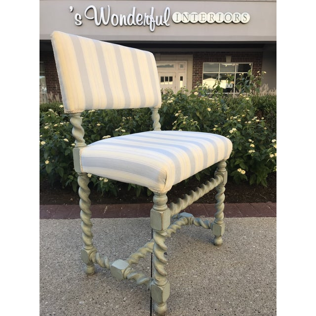 Shabby Chic Barley Twist Chairs - Set of 6 Gustavian Style For Sale - Image 3 of 10