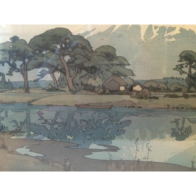Hiroshi Yoshida Woodblock Print With Jizuri Seal For Sale - Image 7 of 8
