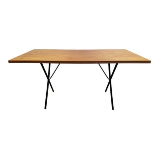 Mid-Century Modern X-Leg Table by George Nelson for Herman Miller For Sale
