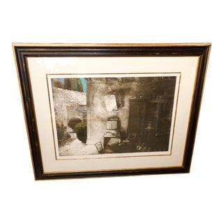 Aquatint Dated 1995 by the Noted Bosnian Artist Safet Zec For Sale