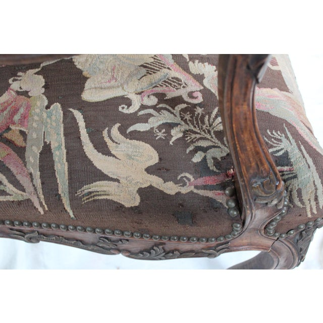 French Louis XV Walnut Arm Chair - Image 5 of 10