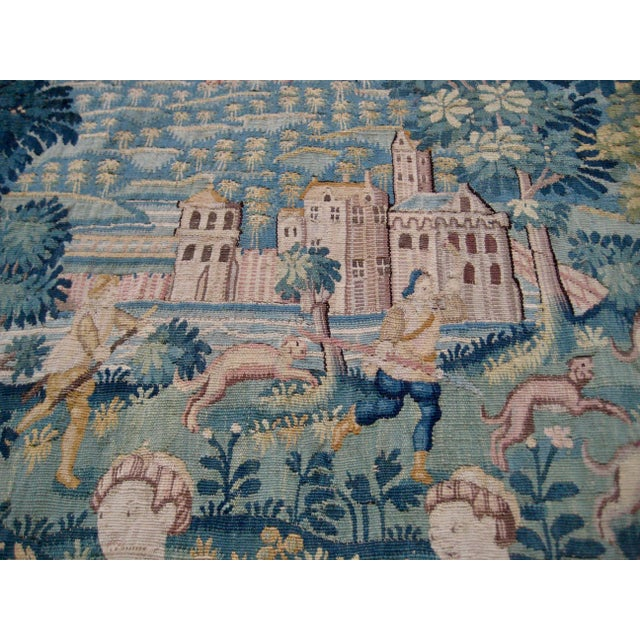 Blue Large 16th Century Flemish Tapestry Wall Hanging For Sale - Image 8 of 13