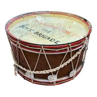 Vintage Rope Tension Drum Coffee Table For Sale