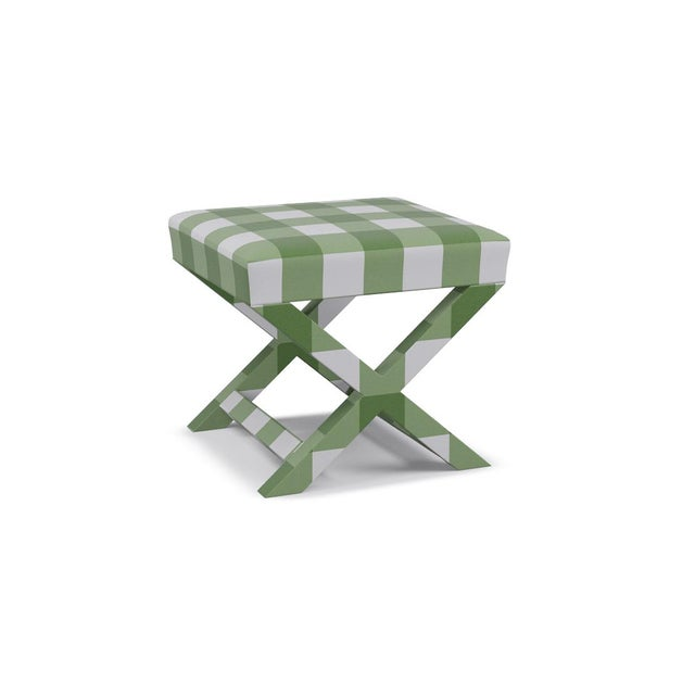 The classic X Bench--perfect in every way and even better as a pair. Fully upholstered and extra comfortable as an...