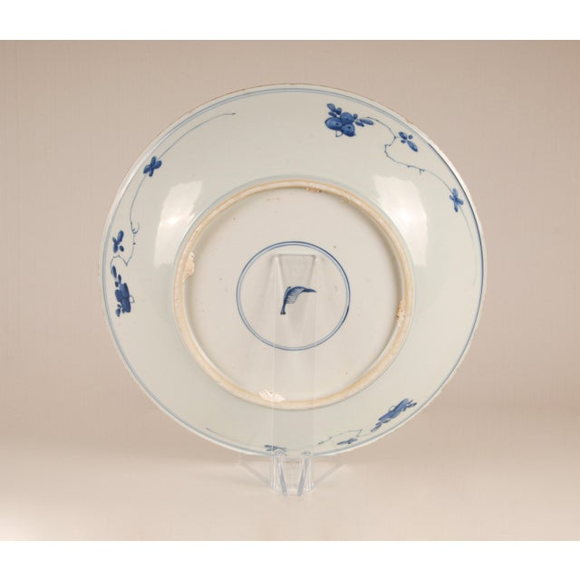17th Century 17th Century Antique Chinese Ming Porcelain Blue and White Deep Charger Bowl For Sale - Image 5 of 12