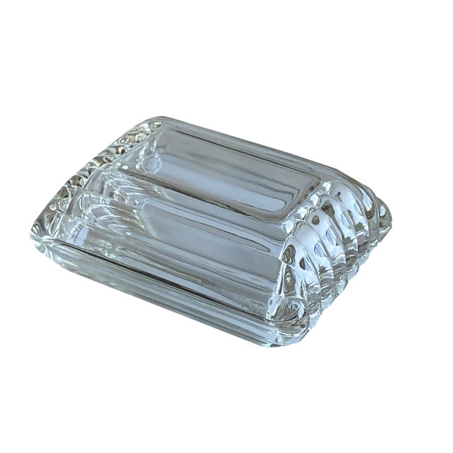 Transparent Mid Century Ribbed Glass Box For Sale - Image 8 of 8