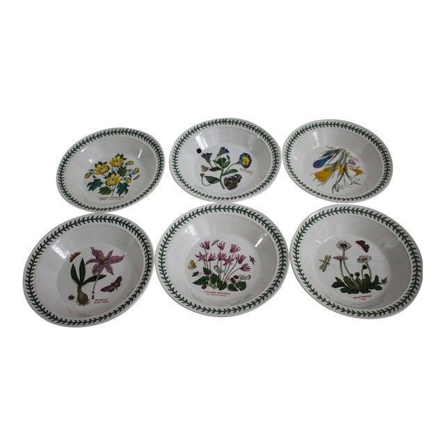 Set of 6 Portmeirion Botanic Garden Soup Bowls - Image 1 of 10