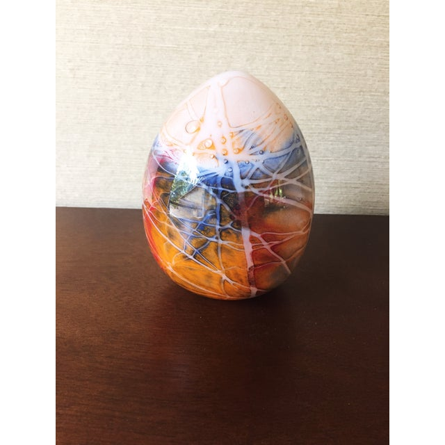 Mid Century Blown Glass Egg Paperweight - Image 2 of 4