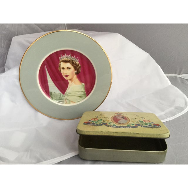 Coronation of Queen Elizabeth II Decorative Objects - a Pair For Sale - Image 9 of 13