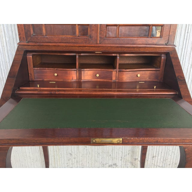 18th Century Louis XVI Style French Inlaid Secretary Desk For Sale - Image 11 of 13