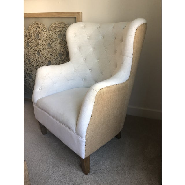 Tufted Arm Chair For Sale - Image 9 of 9