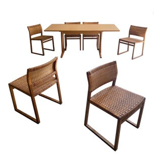 1950s Mid Century Danish Modern Dining Set Designed by Børge Mogensen For Sale