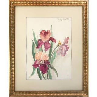 Vintage Watercolor of Flowers by Mary Chott