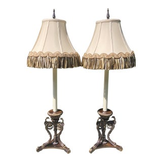 Frederick Cooper Griffin Lamps - a Pair For Sale