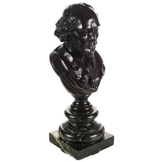 Carved Wooden Shakespeare Bust For Sale