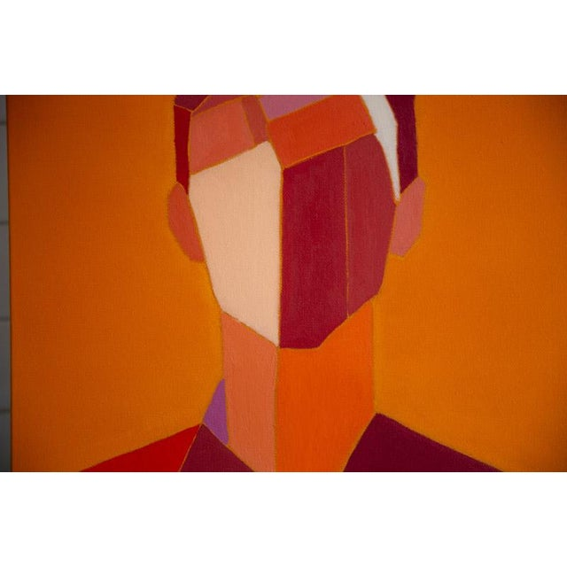 Abstract figure oil on canvas by Bill Tansey