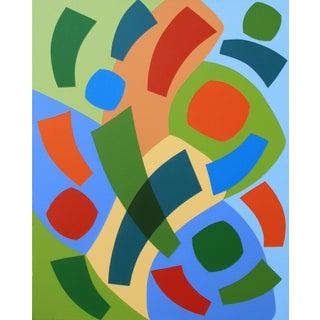 """For Aida"" Contemporary Geometric Hard Edge Acrylic Painting by Sassoon Kosian For Sale"