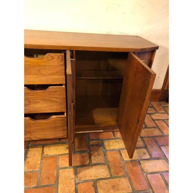 Mid-Century Modern Brutalist Credenza Kent Coffey Style For Sale - Image 9 of 13