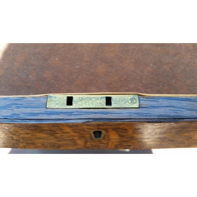 1920s Arts & Crafts British Flatware Chest For Sale - Image 6 of 9