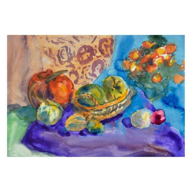 Les Anderson Harvest Still Life Painting - Image 2 of 4